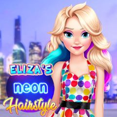 eliza's neon hairstyle